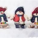Three Snowmen Sledding (61)